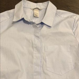 H&M Tops - Blue striped shirt
